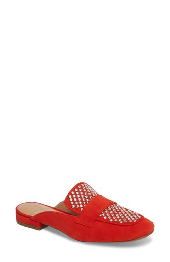 Women's Linea Paolo Avery Studded Mule, Size 9 M - Red