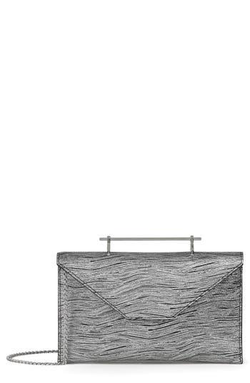 M2Malletier Annabelle Metallic Calfskin Leather Clutch - Metallic