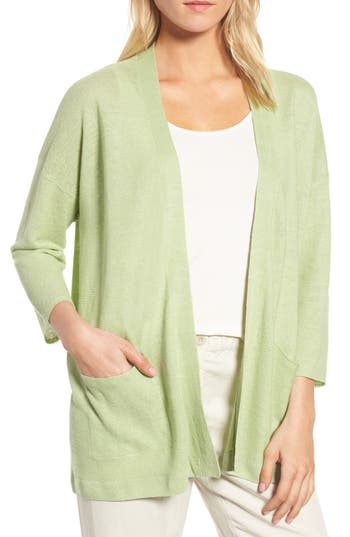 BOXY ORGANIC LINEN CARDIGAN from Nordstrom
