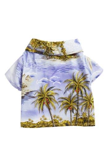 Dog Threads Purple Hawaiian Print Dog Shirt, Size Large - Purple