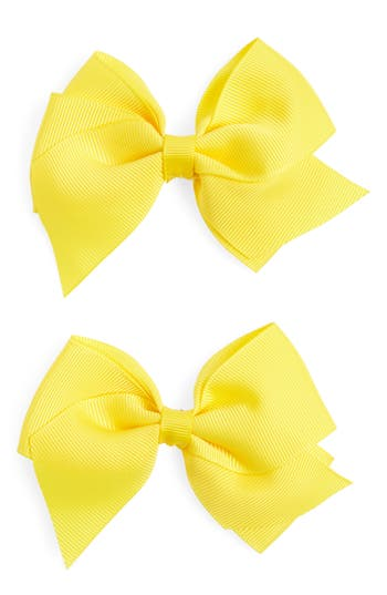 Plh Bows & Laces Bow Clips, Size One Size - Yellow