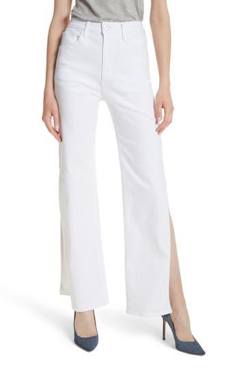 3x1 nyc female womens 3x1 nyc w4 adeline split leg flare jeans size 25 white