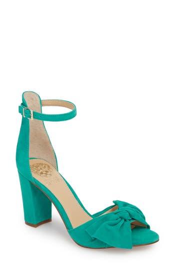 Women's Vince Camuto Carrelen Block Heel Sandal, Size 5 M - Blue/green