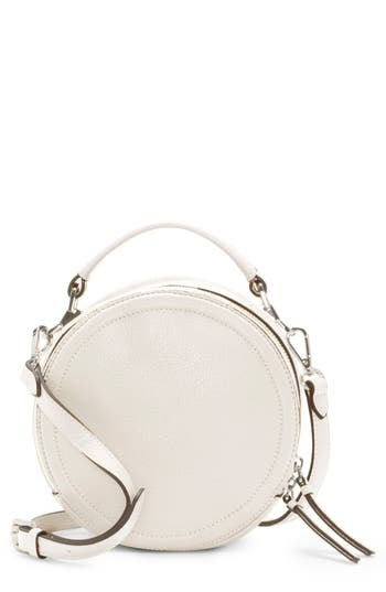 Vince Camuto Bray Leather Crossbody Bag - White