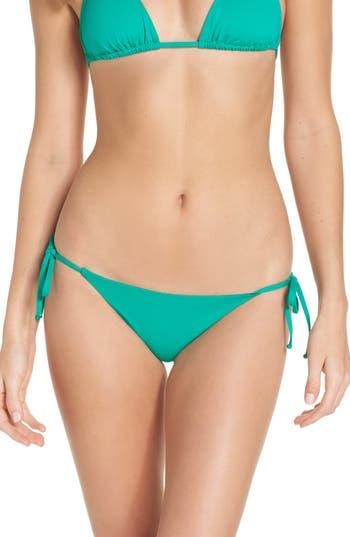 Women's Becca Color Code Side Tie Bikini Bottoms, Size X-Small - Green