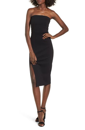 Women's Soprano Strapless Body-Con Dress, Size X-Small - Black
