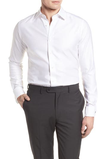 David Donahue Slim Fit Tuxedo Shirt