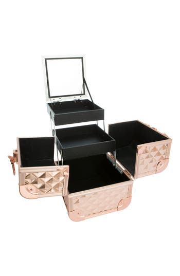 Impressions Vanity Co. Slaycube Travel Case, Size One Size - Champagne Sparkle