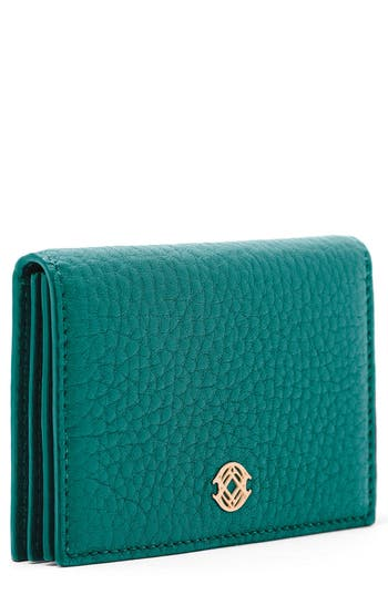 Women's Dagne Dover Accordion Leather Card Case - Blue/green