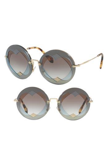 Miu Miu 62Mm Layered Heart Round Sunglasses -