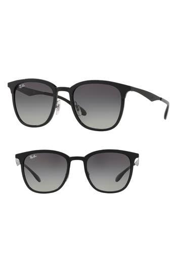 Ray-Ban Highstreet 51Mm Square Sunglasses - Black