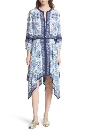 Joie Cyntia Paisley Silk Dress, Blue