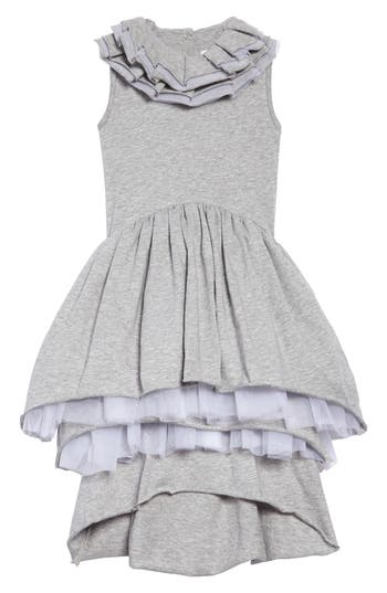 Toddler Girls Nununu Victorian Tulle Dress Size 34Y  Grey