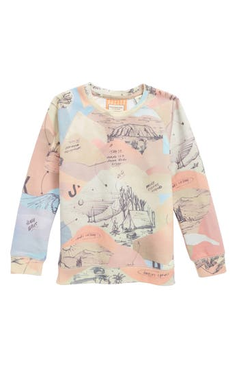 Boy's Scotch Shrunk All Over Print Pullover, Size 8 - Beige