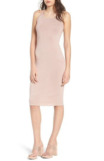 Leith Melange Body-Con Dress, Pink