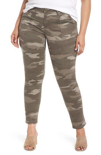 Plus Size Wit & Wisdom Flex-Ellent Camo Cargo Pants, Brown