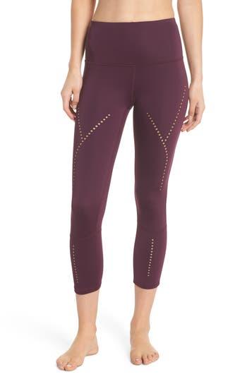Zella Star Crossed Crop Leggings, Purple