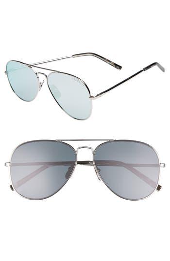 Women's Seafolly Noosa 51Mm Metal Aviator Sunglasses - Silver