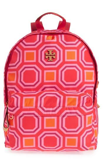 Tory Burch Print Nylon Backpack - Orange