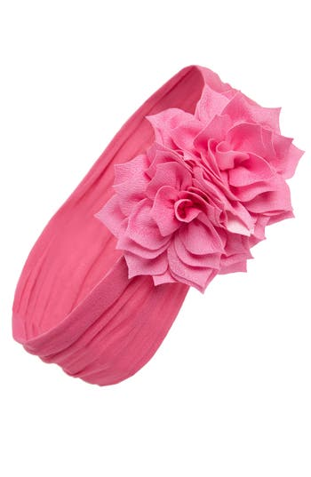 Baby Bling Holiday Poinsettia Flower Headband, Size One Size - Pink
