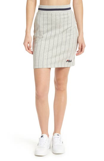 Fila Francesca Pinstripe Skirt, Grey