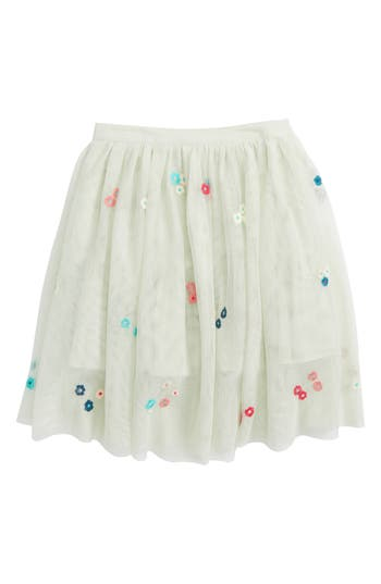 Girls Peek Victoria Embroidered Tulle Skirt