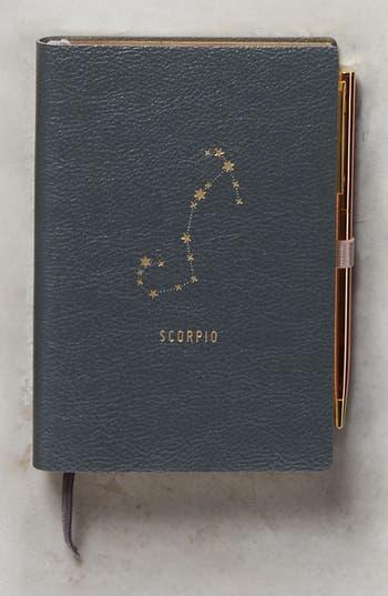 anthropologie zodiac journal - grey