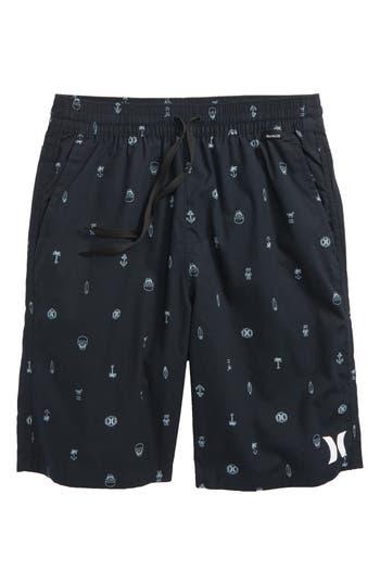 Boys Hurley Print PullOn Shorts