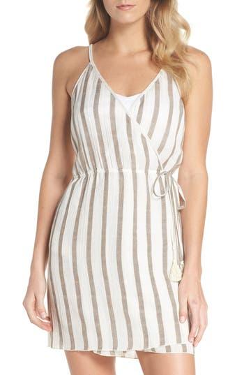 Becca Serengeti Cover-Up Wrap Dress, White