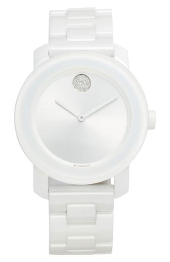 Movado Bold Ceramic Bracelet Watch, 36mm