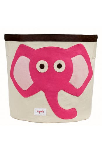 3 sprouts female 3 sprouts elephant applique storage bin