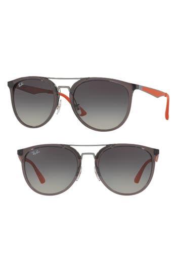 Ray-Ban 55Mm Gradient Lens Sunglasses - Transparent Grey Gradient