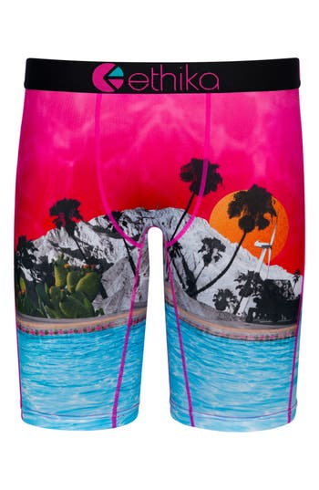 Boys Ethika Staycation Stretch Boxer Briefs Size M  810  Pink