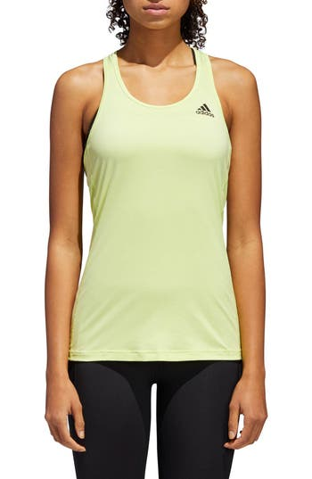 Adidas Performer Baseline Tank Top, Yellow