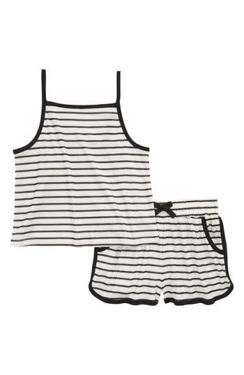 Girls Tucker  Tate Stripe TwoPiece Pajamas Set