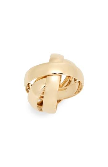 Lana Jewelry Interlocking 14K Gold Curve Ring