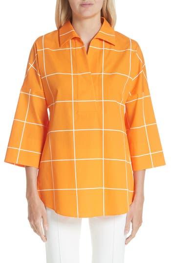 Women's Akris Punto Windowpane Kimono Blouse