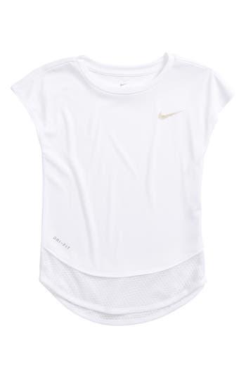 Toddler Girls Nike Dry Mesh Trim Tunic Size 2T  White