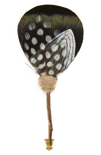 Brackish & Bell Highlight Feather Lapel Pin