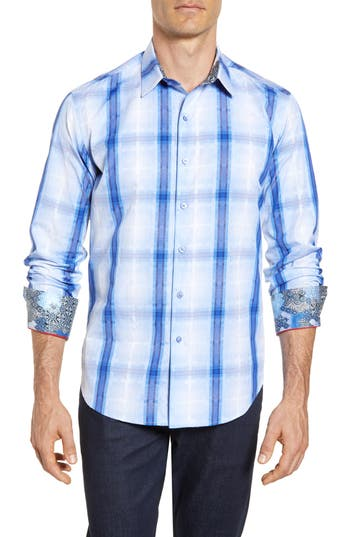 Men's Robert Graham Tonga Classic Fit Check Sport Shirt