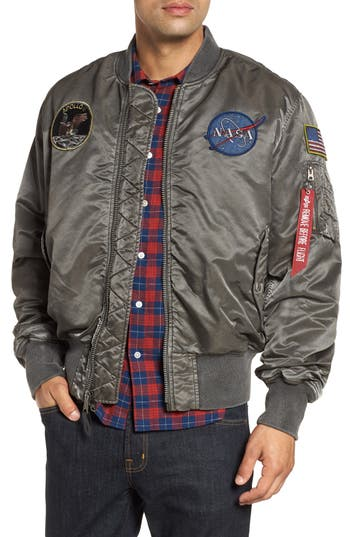 Alpha Industries NASA MA-1 Apollo Battleworn Reversible Bomber Jacket