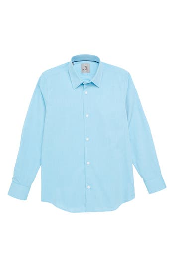 Boys Jb Jr Solid Dress Shirt Size 8  Bluegreen