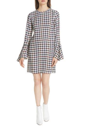 Women's Equipment Mari Check Mini Dress, Size X-Small - Blue