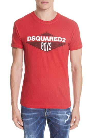 Men's Dsquared2 Boys Graphic T-Shirt