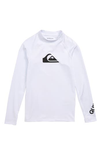 Boys Quiksilver All Time Long Sleeve Rashguard Top