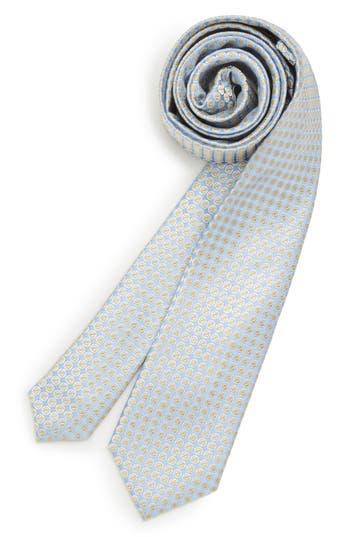 Boys Michael Kors Circle Square Silk Tie Size One Size Big Boy  Blue