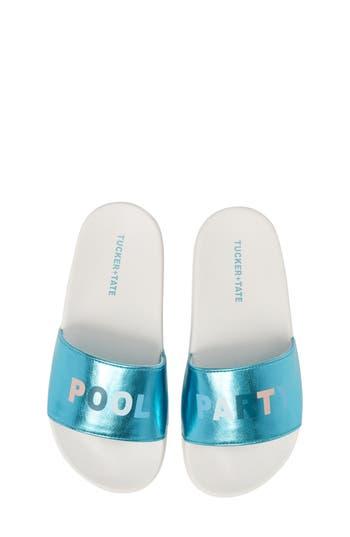 Girls TuckerTate Libby Metallic Slide Sandal