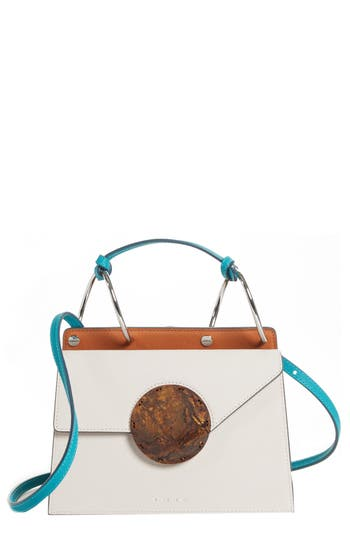 PHOEBE BIS ACETATE CLOSURE CROSSBODY BAG - BEIGE