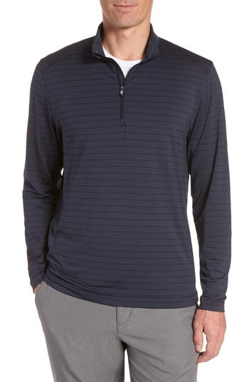 Cutter & Buck Holman Stripe Half Zip Pullover