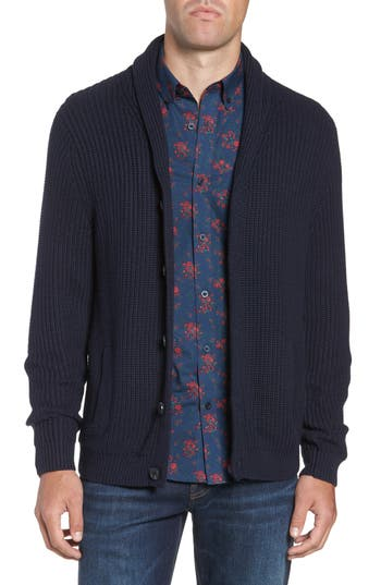 Nordstrom Men's Shop Chunky Rib Shawl Collar Cardigan